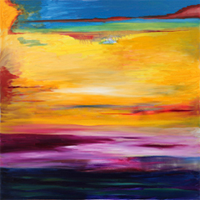 "TAOS BIG SUNSET - 36"" x 36"" - Oil on Canvas"